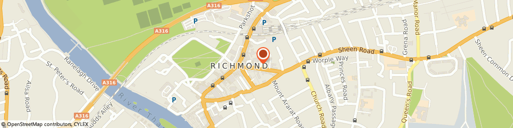 Route/map/directions to Woolgar Furnishings, TW9 1AS Richmond, 10 Sheen Rd