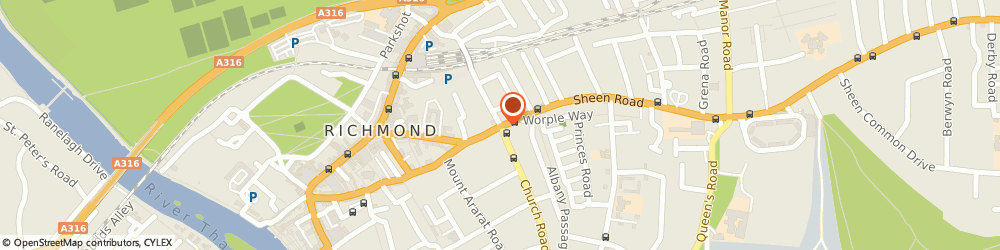 Route/map/directions to Richmond Inn Hotel, TW9 1UG Richmond, 50-56, Sheen Rd