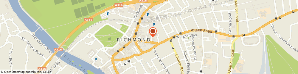 Route/map/directions to Marie Curie Cancer Care, TW9 1AS Richmond, 1 Lichfield Terrace Sheen Road