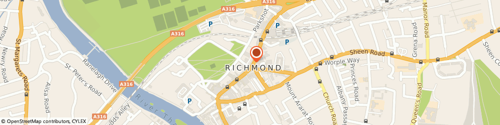 Route/map/directions to Oliver Bonas, TW9 1BP Richmond, 4 The Quadrant