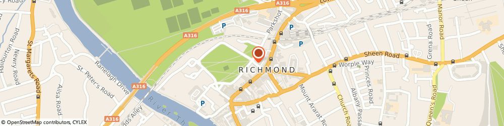 Route/map/directions to Surrey Interiors, TW9 1PL Richmond, 1 The Green