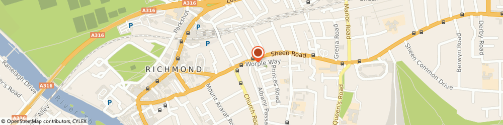 Route/map/directions to The Bowman Gallery, TW10 6DG Richmond, 9 Worple Way