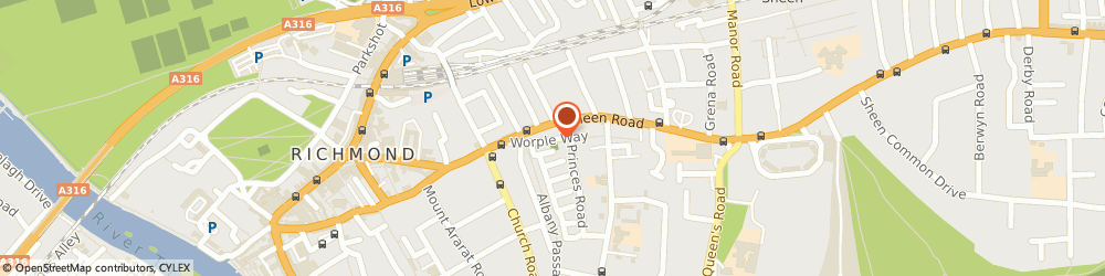 Route/map/directions to Northpoint Design, TW10 6DF Richmond, 4 Worple Way