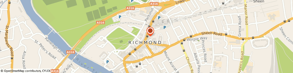 Route/map/directions to THE CO-OPERATIVE BANK, TW9 1BP Richmond, 10 The Quadrant