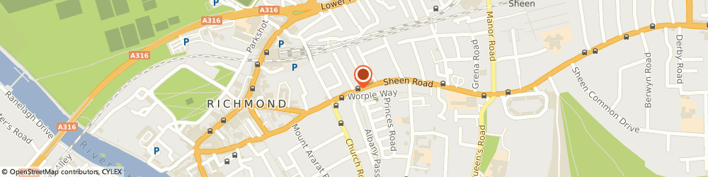 Route/map/directions to T W Barbers, TW9 1UF Richmond, 80 Sheen Road