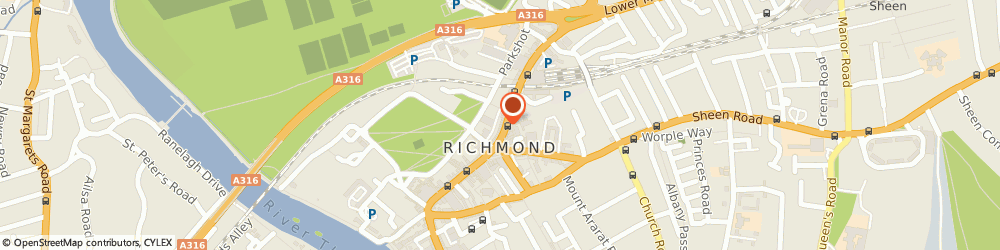 Route/map/directions to Shaw & Co, TW9 1BP Richmond, 9-11 The Quadrant