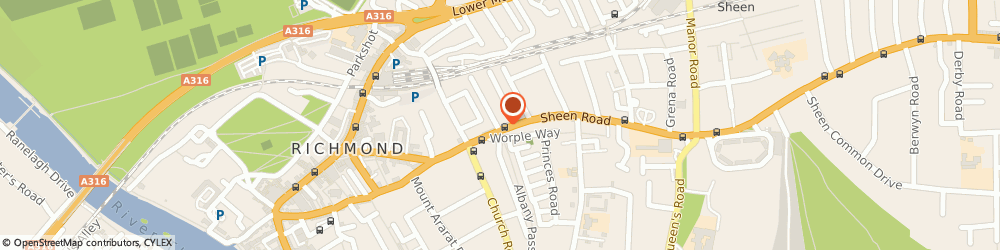 Route/map/directions to Beauty by Dana, TW9 1UF Richmond, 92 Sheen Road