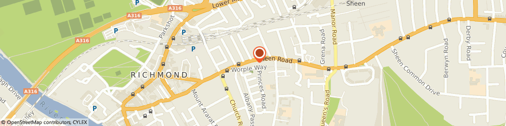 Route/map/directions to Red Cow, TW9 1YJ Richmond, 59 Sheen Road