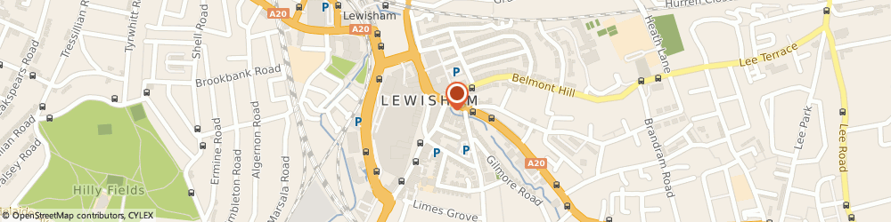 Route/map/directions to Scope - Lewisham charity shop, SE13 6BG London, 7 Lewis Grove