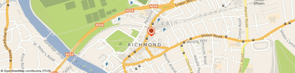 Route/map/directions to Flight Centre, TW9 1DN Richmond, 38-39 The Quadrant
