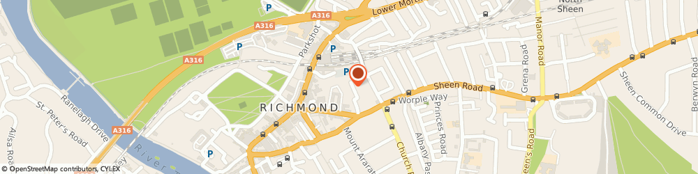 Route/map/directions to Carpet Plan, TW9 1AS Richmond, 16 Sheen Rd, Lichfield Gardens