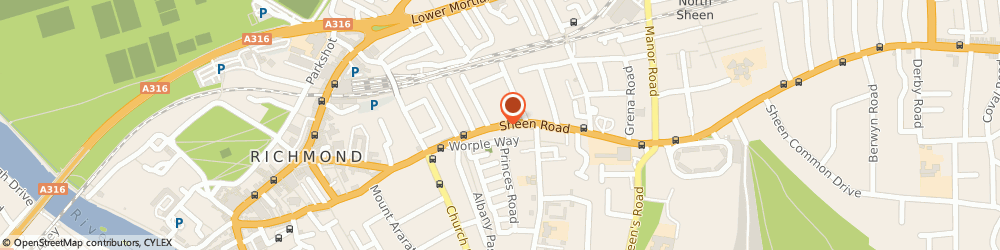 Route/map/directions to The Richmond Hair Company, TW9 1UR Richmond, 116 Sheen Road