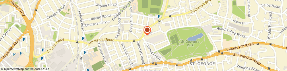 Route/map/directions to Bristol's Mobility Centre, BS5 7BP Bristol, 423 Whitehall Road