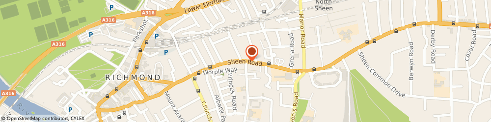 Route/map/directions to Advantec Internet Services Ltd, TW9 1AE Richmond, 2 SHEEN RD