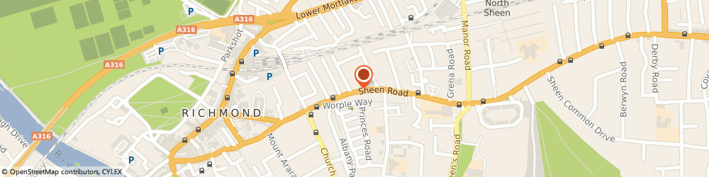 Route/map/directions to Indesign Bathrooms & Kitchens, TW9 1UR Richmond, 108-110 Sheen Rd