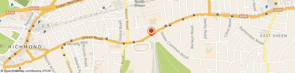 Route/map/directions to WEB SOLUTIONS AND SERVICES LIMITED, TW10 5AN Richmond, 210H Sheen Rd