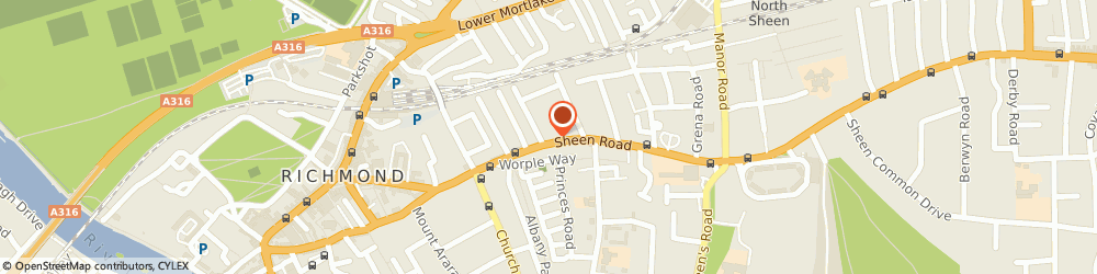 Route/map/directions to D Taled Designs Ltd., TW9 1UR Richmond, 108B Sheen Rd
