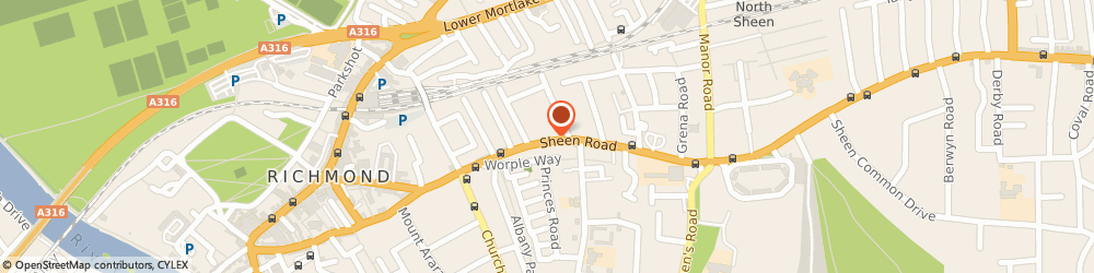 Route/map/directions to Springfield Pharmacy, TW9 1UR Richmond, 124 Sheen Road