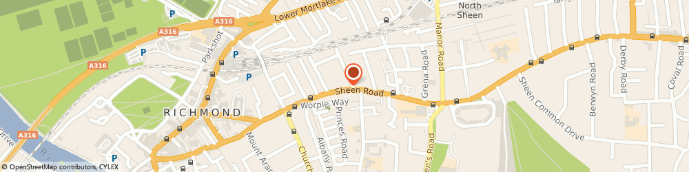 Route/map/directions to The Dragon Inn, TW9 1UR Richmond, 130 Sheen Rd