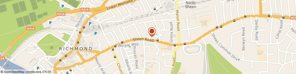 Route/map/directions to Seymour House Surgery, TW9 1UU Richmond, 154 Sheen Road