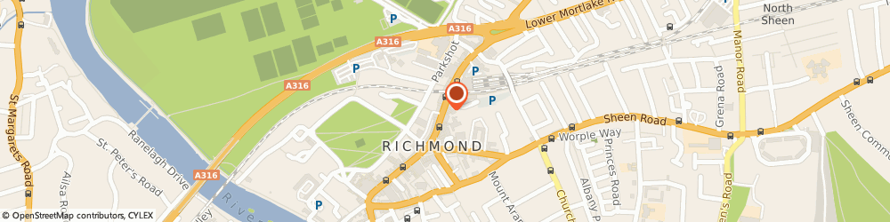Route/map/directions to Claire's Accessories, TW9 1DN Richmond, 33 The Quadrant