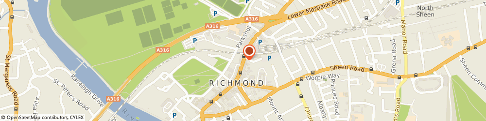 Route/map/directions to COSTA COFFEE, TW9 1DN Richmond, 27 The Quadrant