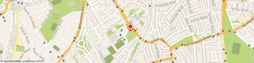 Route/map/directions to Dulwich Health Club, SE22 8BD London, Edgar Kail Way