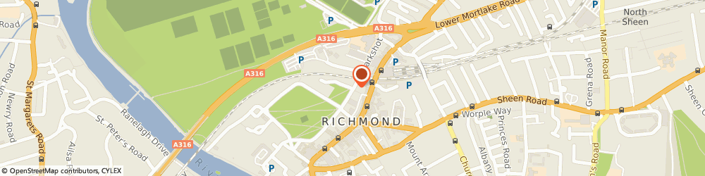 Route/map/directions to Richmond Central Lending Library, TW9 1QL Richmond, THE COTTAGE, LITTLE GREEN