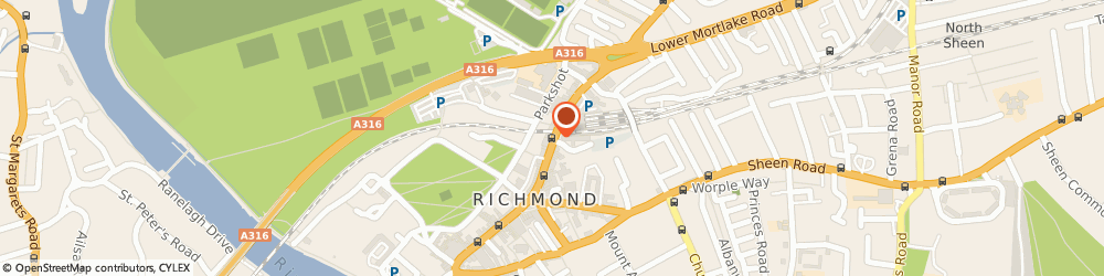 Route/map/directions to RBS The Royal Bank of Scotland RICHMOND, TW9 1DF Richmond, 26A The Quadrant