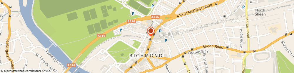 Route/map/directions to RBS The Royal Bank of Scotland ATM, TW9 1DF Richmond, 26A THE QUADRANT
