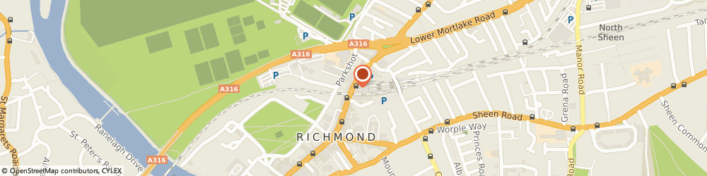 Route/map/directions to Kew Green Hotels (Management) Limited, TW9 1DT Richmond, 2ND FLOOR, DOME BUILDING, THE QUADRANT