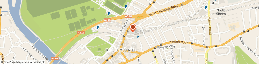 Route/map/directions to A m t Coffee, TW9 2NA Richmond, Richmond Station, Kew Road