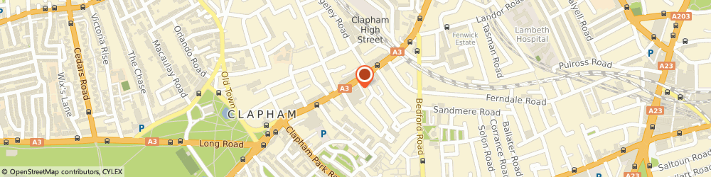 Route/map/directions to Tigerlily Weddings, SW4 7TY London, 2 Clement Ave