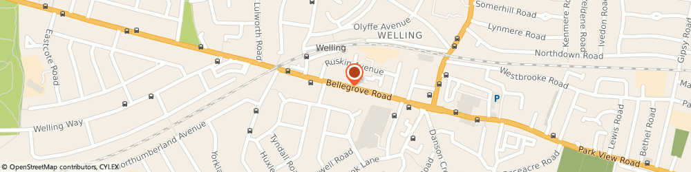 Route/map/directions to Thai Dynasty, DA16 3PG Welling, 75 Bellegrove Road