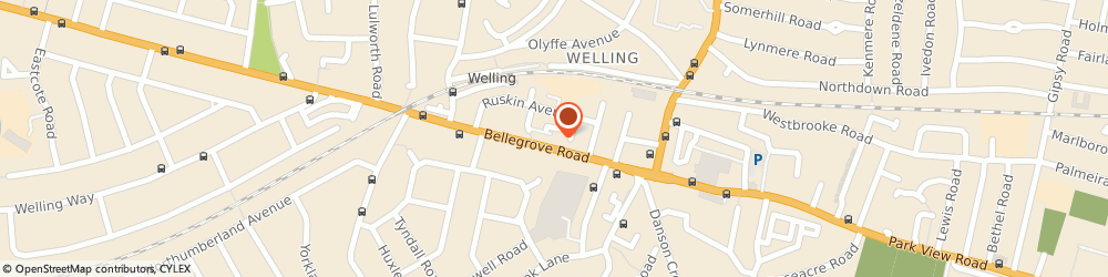 Route/map/directions to The Welling Snooker Club, DA16 3PY Welling, 52 Bellegrove Rd