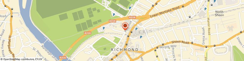 Route/map/directions to PK Group, TW9 2RD Richmond, 1 Parkshot