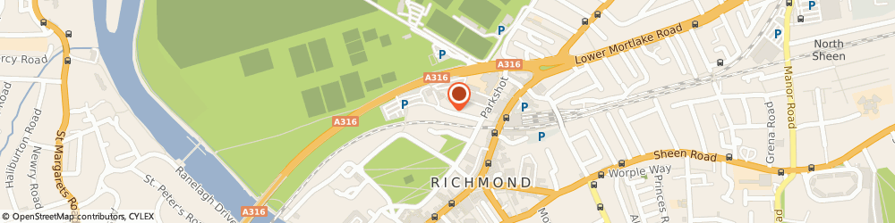 Route/map/directions to Royal Mail, TW9 2RL Richmond, 2 Park Lane