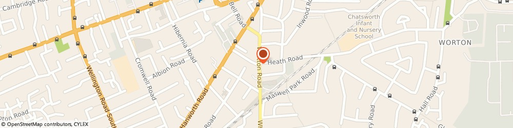 Route/map/directions to T C Care Ltd, TW3 2AA Hounslow, 50-52 Cross Lances Road