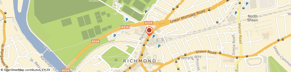 Route/map/directions to Davenport Thomas, TW9 2PR Richmond, Parkshot House, 5 Kew Road