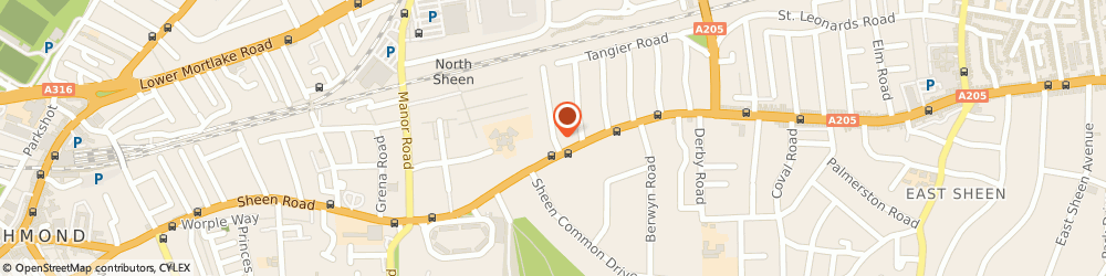 Route/map/directions to Sheen Court Ltd, TW10 5DF Richmond, Sheen Ct Rd
