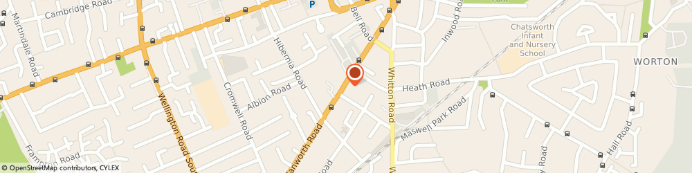 Route/map/directions to Tm Hire Limited, TW3 3TY Hounslow, 264 HANWORTH ROAD