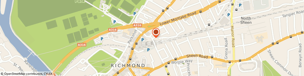 Route/map/directions to Julian Bicknell & Associates, TW9 2PF Richmond, 32A Larkfield Road