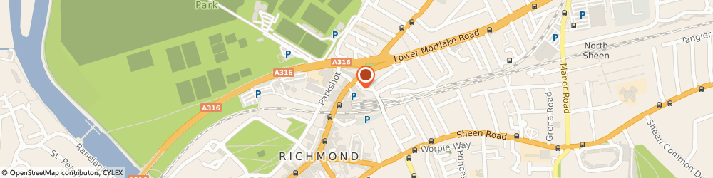 Route/map/directions to MANPOWER SOFTWARE LIMITED, TW9 2QE Richmond, 2Nd Floor, 1 Church Road