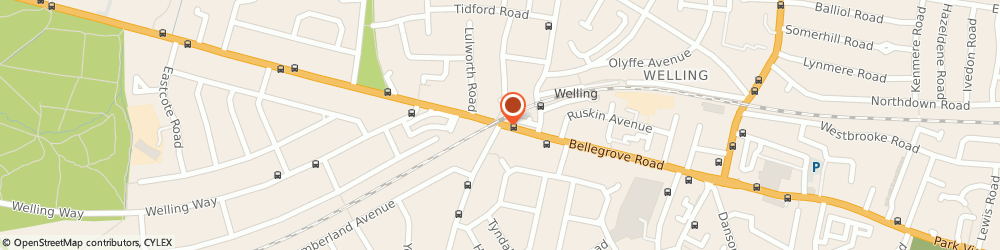 Route/map/directions to Colliers Insurance Consultants, DA16 3QR Welling, 146A, BELLEGROVE ROAD