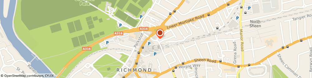 Route/map/directions to Alcoholics Anonymous, TW9 2PE Richmond, St John The Divine Church Hall, Kew Rd