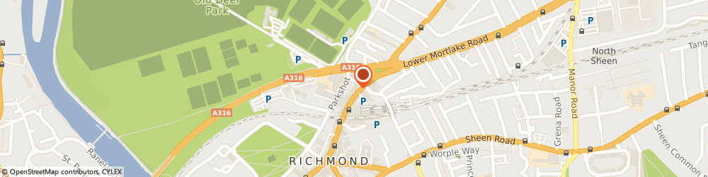 Route/map/directions to Orange Tree, TW9 2NQ Richmond, 45 Kew Road