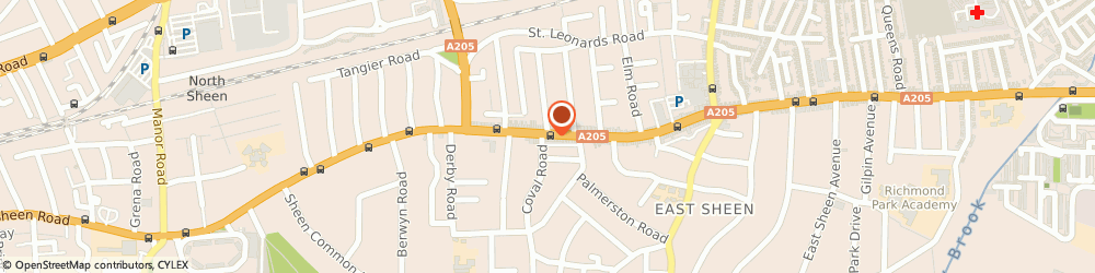 Route/map/directions to A Party Palace, SW14 7PU London, 487-493 Upper Richmond Rd W