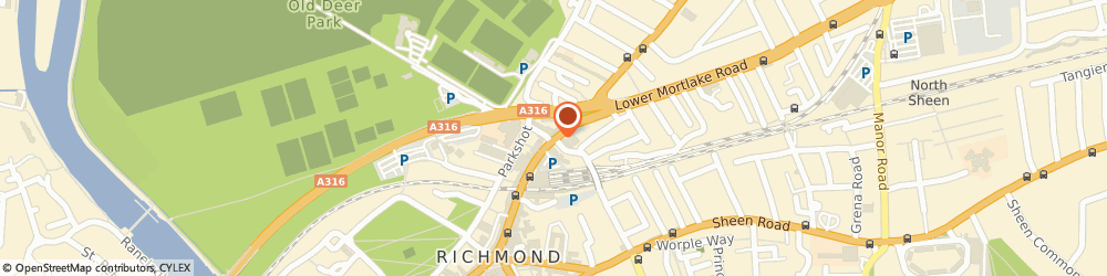 Route/map/directions to Puccinos, TW9 2NA Richmond, Kew Rd