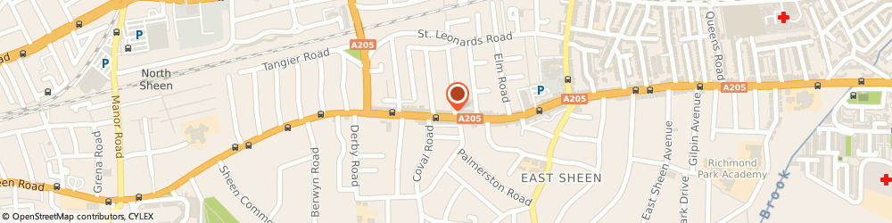 Route/map/directions to R Chubb & Son, SW14 7JT London, 350 Upper Richmond Road West