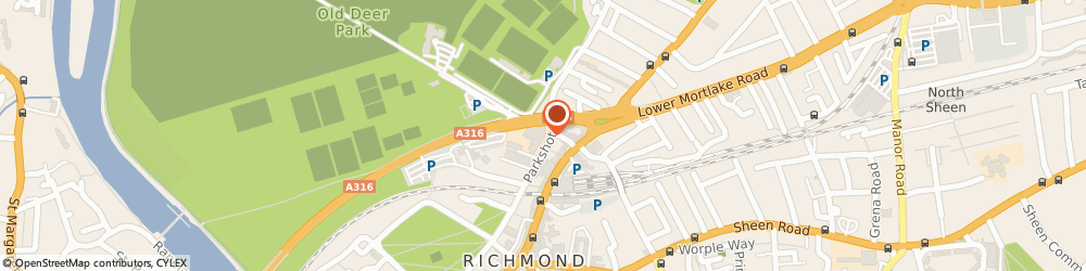 Route/map/directions to The Sun Inn, TW9 2RG Richmond, 17 Parkshot